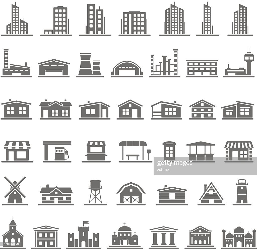 Black Icons - Buildings