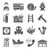 Black Icons - Firefighting