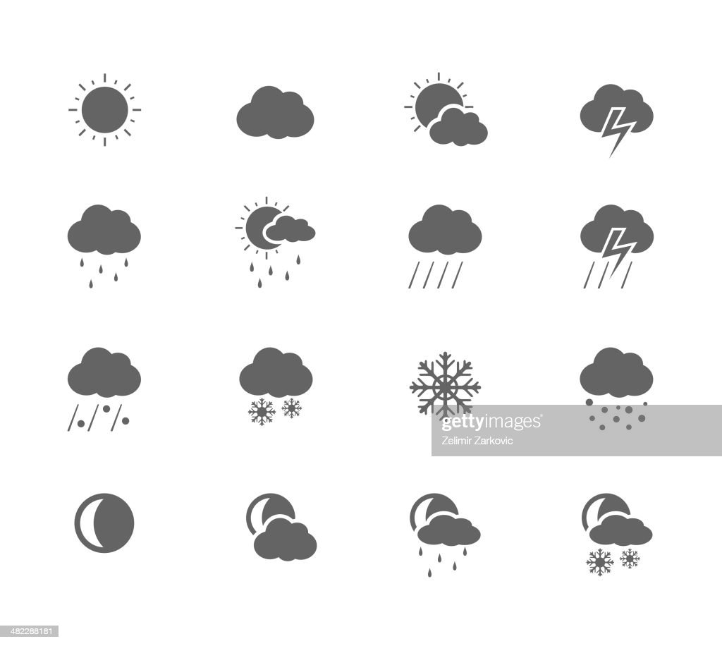 Black Icons - Weather