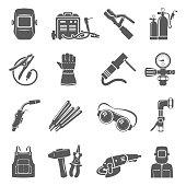 Black Icons - Welding Equipment