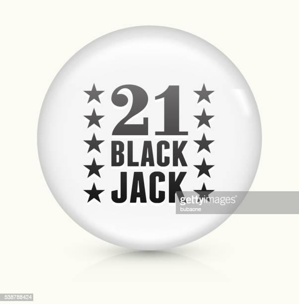 21 Black Jack icon on white round vector button