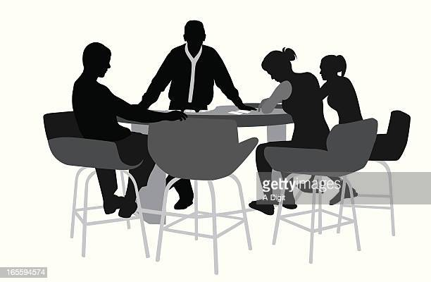 Black Jack Players Vector Silhouette