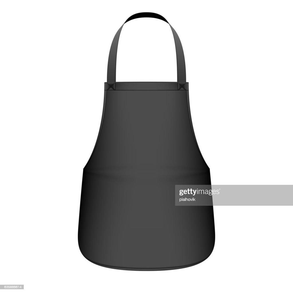 Black kitchen apron