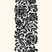 Black Lace. Seamless Pattern.