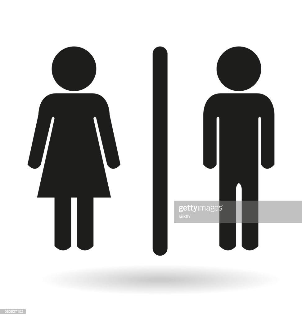 Schwarze Damen Und Herren Wc Symbol Zeichen Stock Illustration