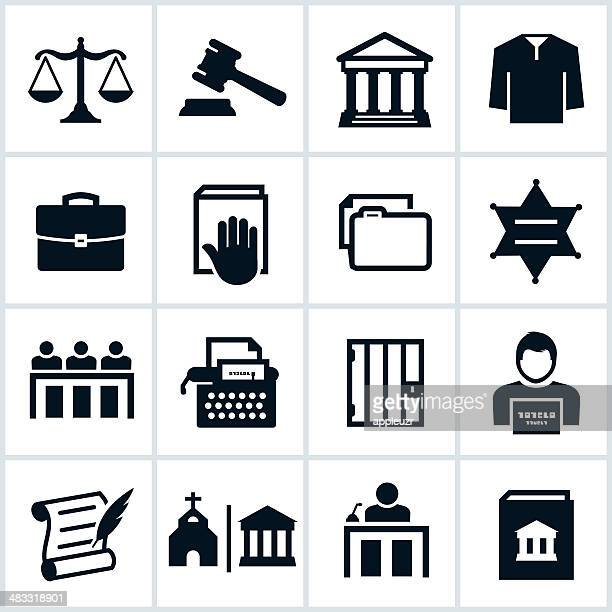 black law icons - legal document stock illustrations, clip art, cartoons, & icons