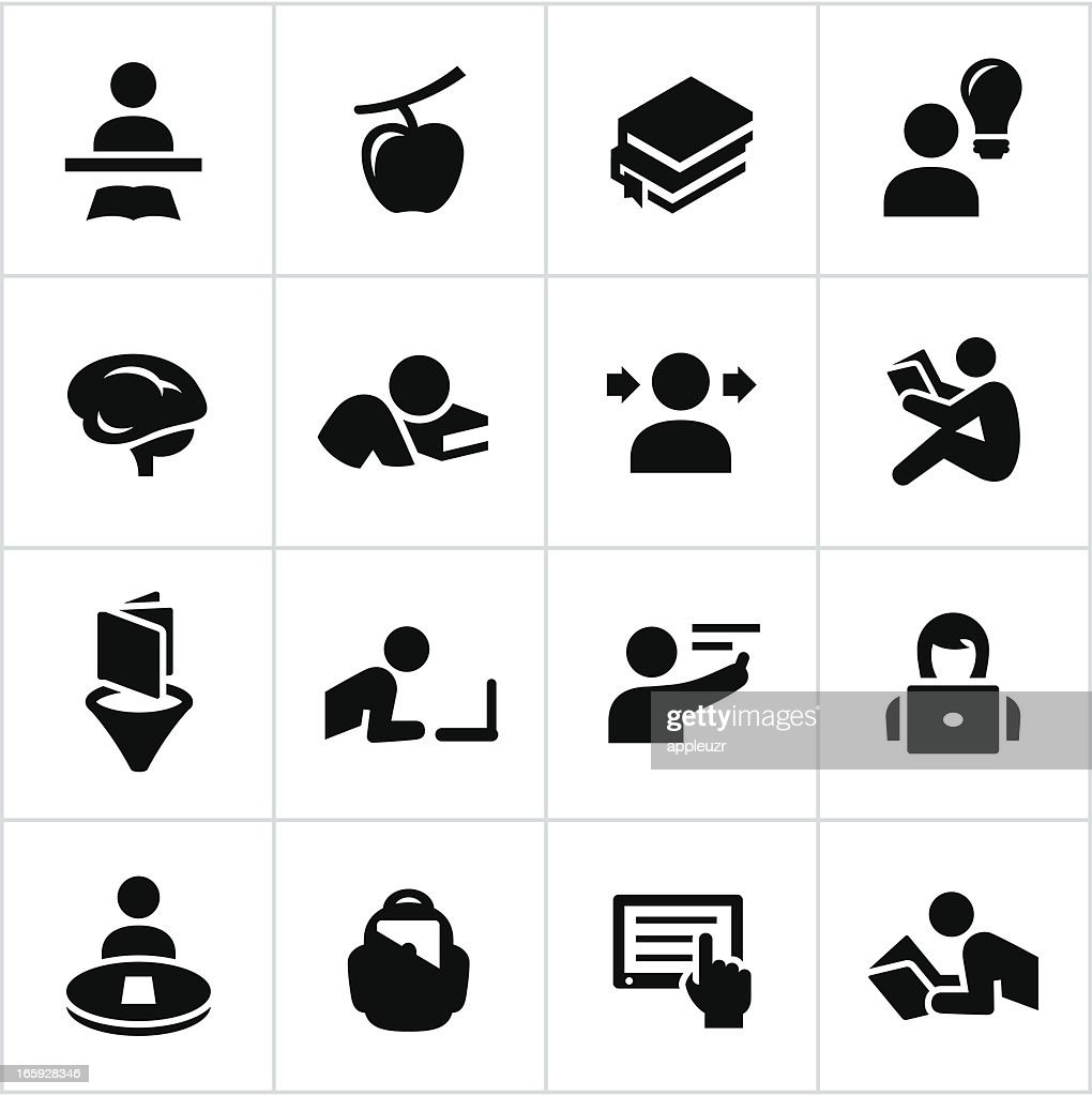 Black Learning Icons