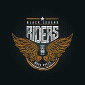 Black Legend Riders typographic design