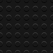 Black lego blocks plate seamless pattern, vector