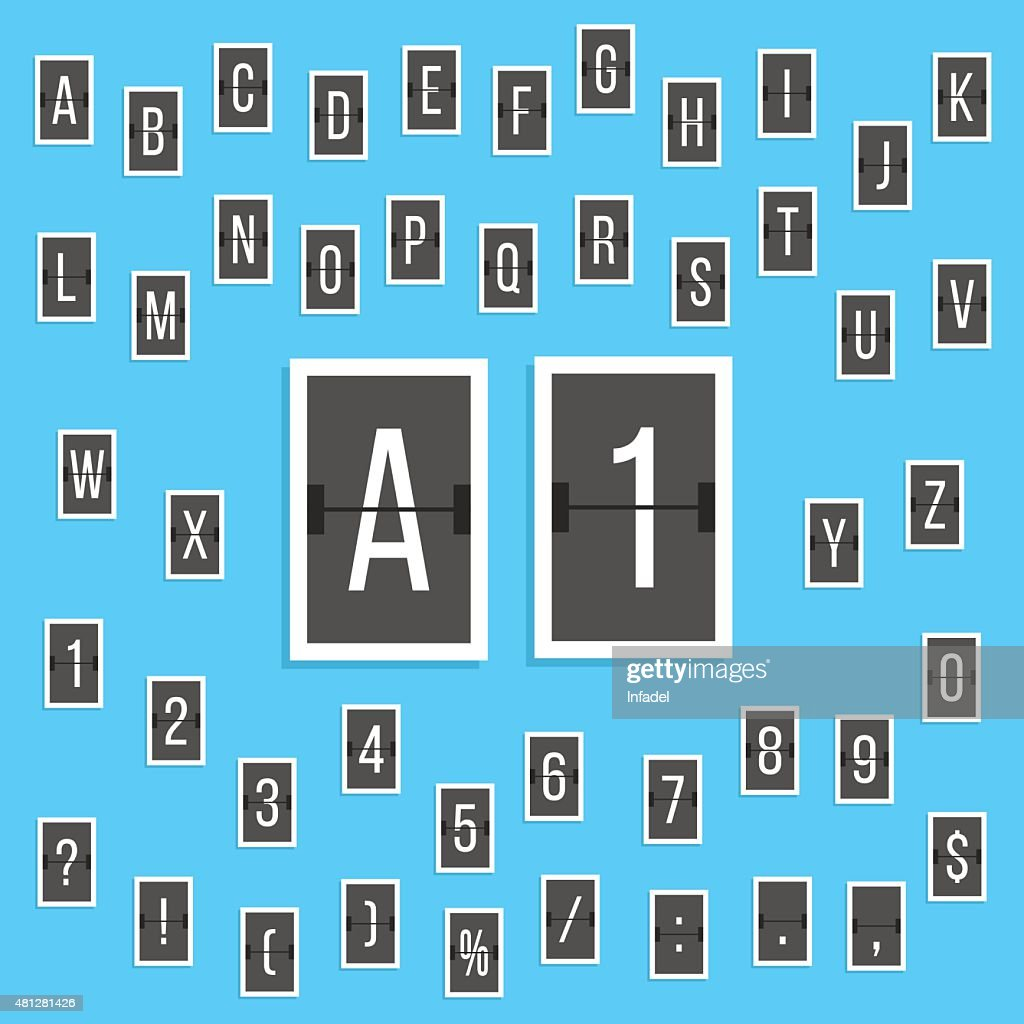 black letters and numbers alphabet scoreboard stickers