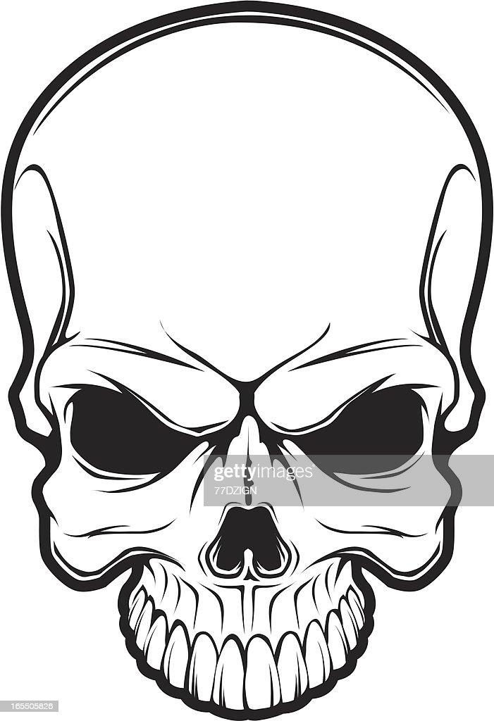 black line skull vector art getty images rh gettyimages com skull vector art free skull vector free