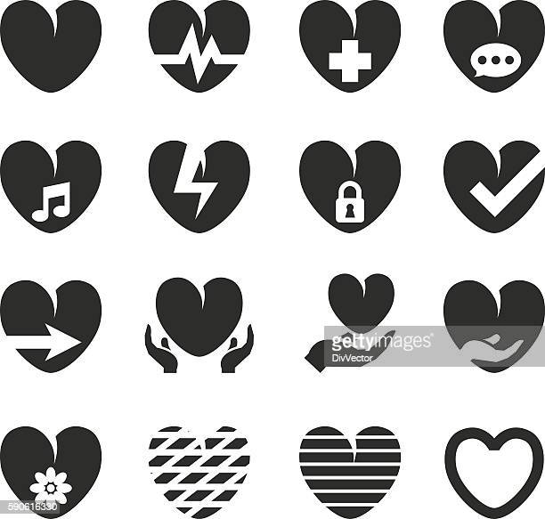 black loving heart icon - heart shape点のイラスト素材/クリップアート素材/マンガ素材/アイコン素材