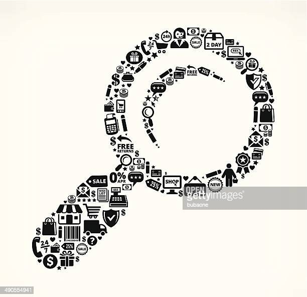 Black Magnifying Glass Shopping Commerce royalty free vector arts