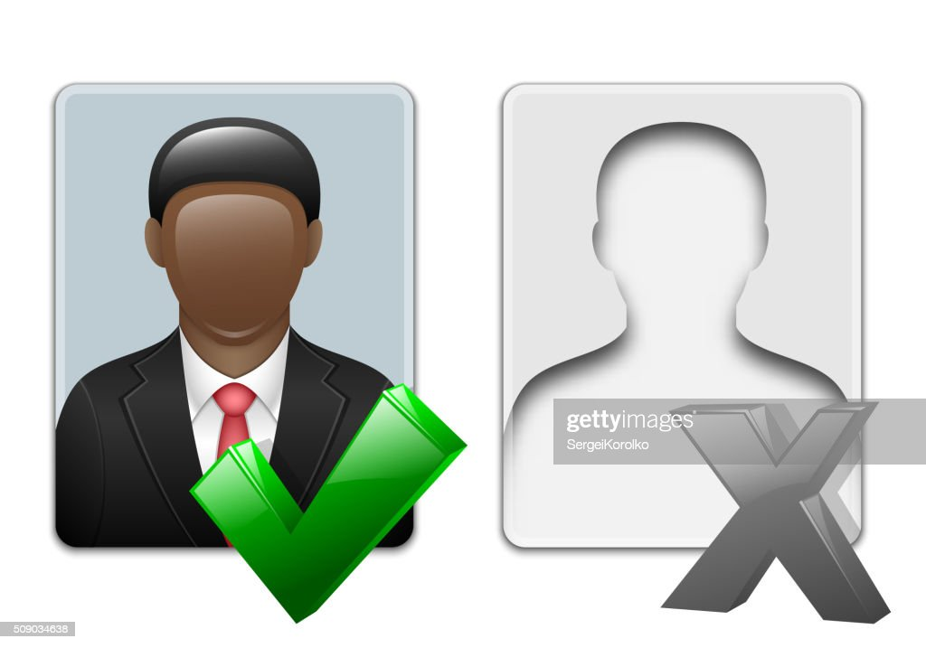 Black man user icons