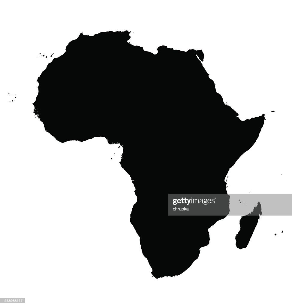 black map of Africa