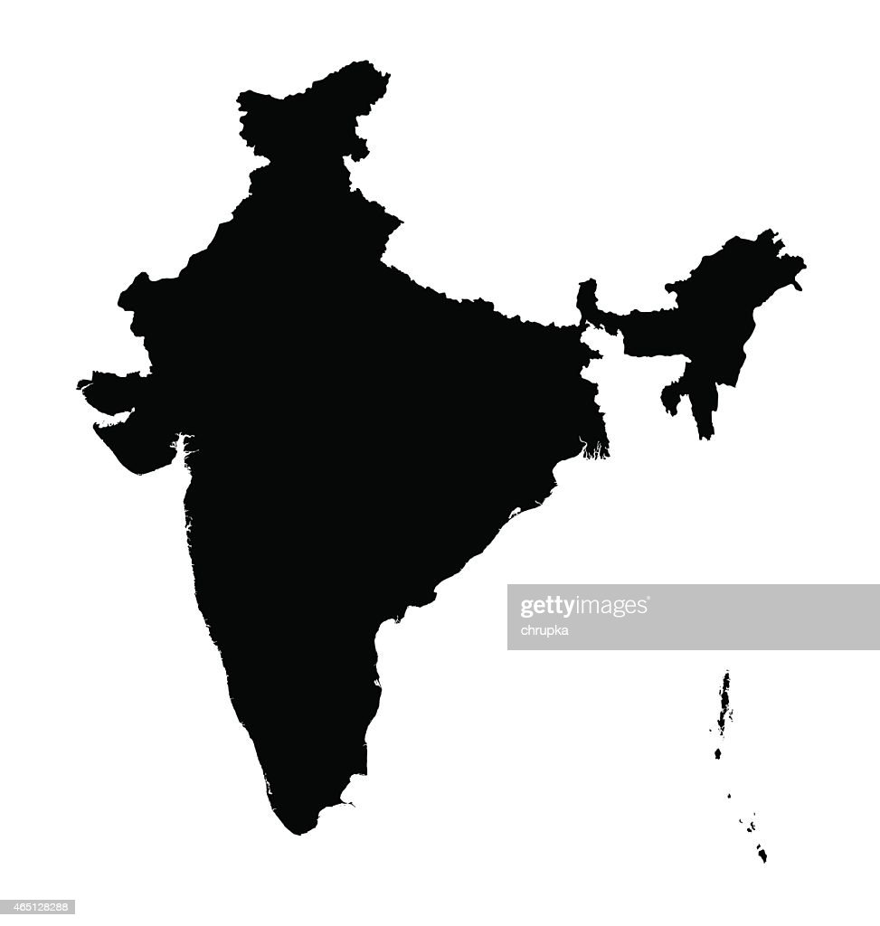 black map of India