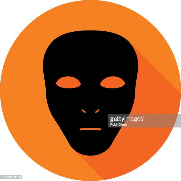 black mask icon - black mask disguise stock illustrations