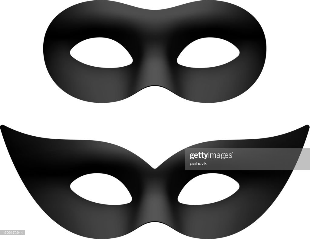 Black masquerade eye masks