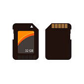 Black memory cards illustration