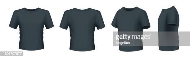 ブラック メンズ tシャツ - シャツ点のイラスト素材/クリップアート素材/マンガ素材/アイコン素材