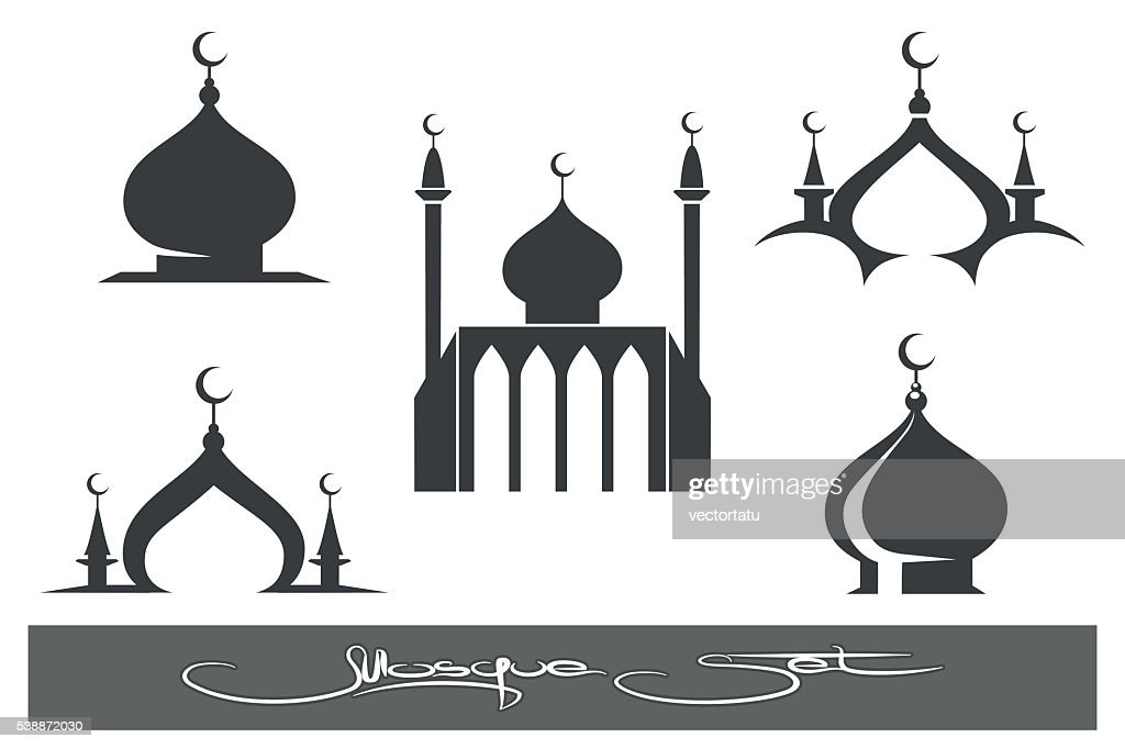 Black Mosques icons set