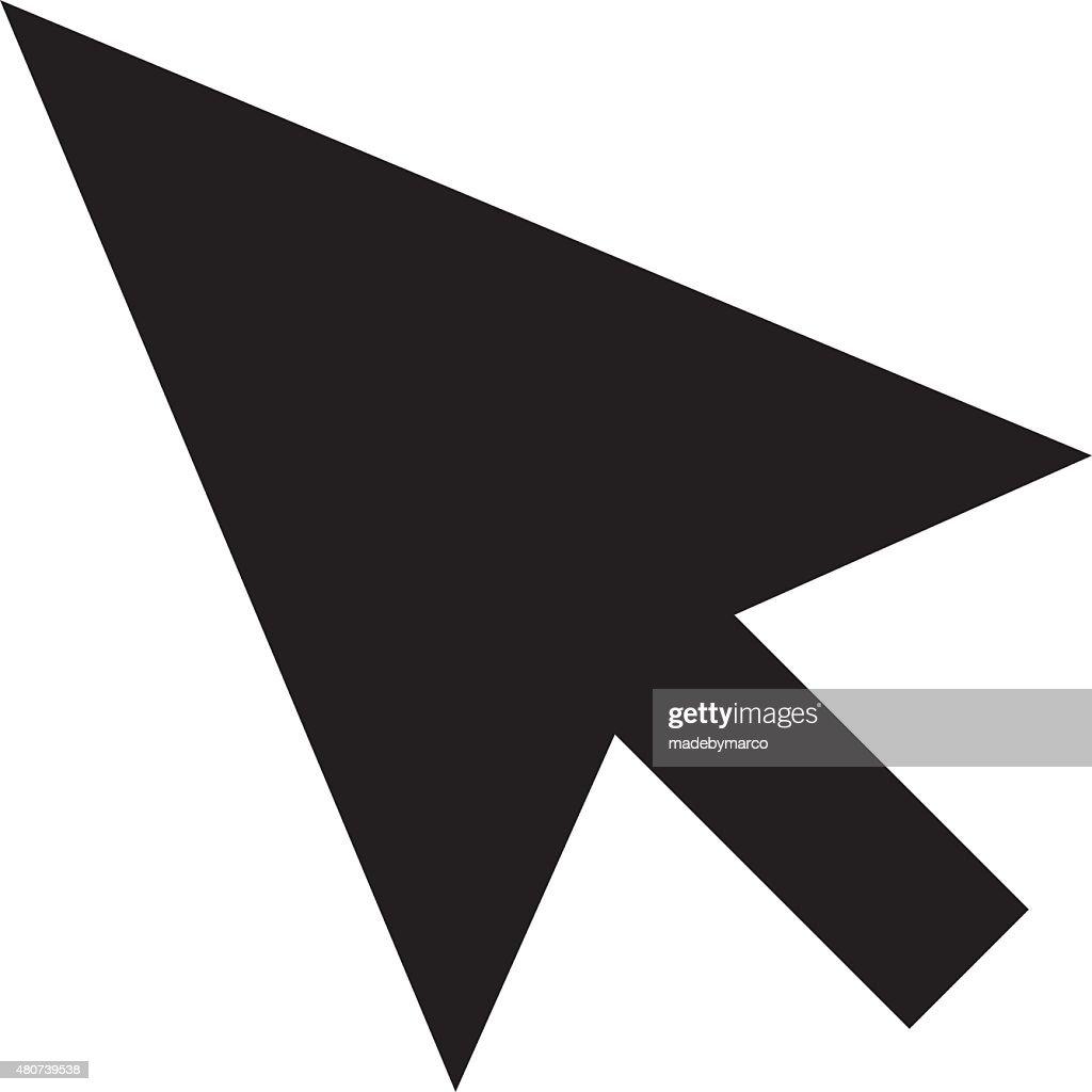black mouse pointer cursor arrow vector art getty images rh gettyimages com mouse arrow vector free download mouse pointer arrow vector