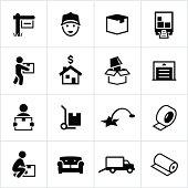 Black Moving Icons