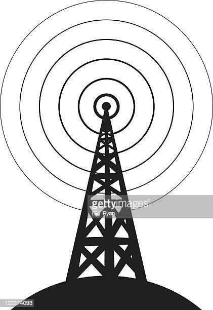 ilustraciones, imágenes clip art, dibujos animados e iconos de stock de red - torres de telecomunicaciones