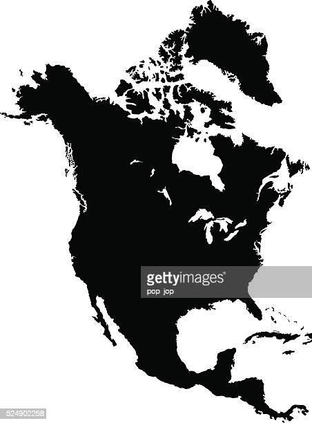 Black North America Map