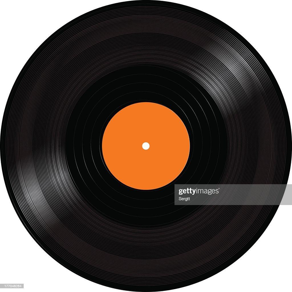 Black old fashioned vinyl LP record