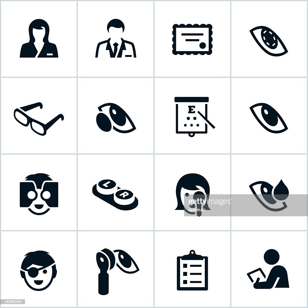 Black Optometry Icons