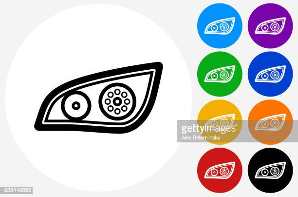 black out roller icon on flat color circle buttons - power outage stock illustrations, clip art, cartoons, & icons
