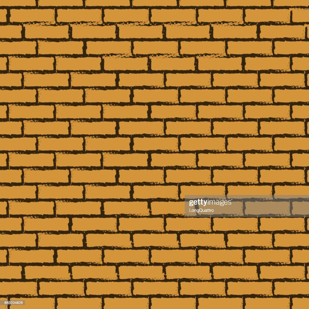Black outline brick wall