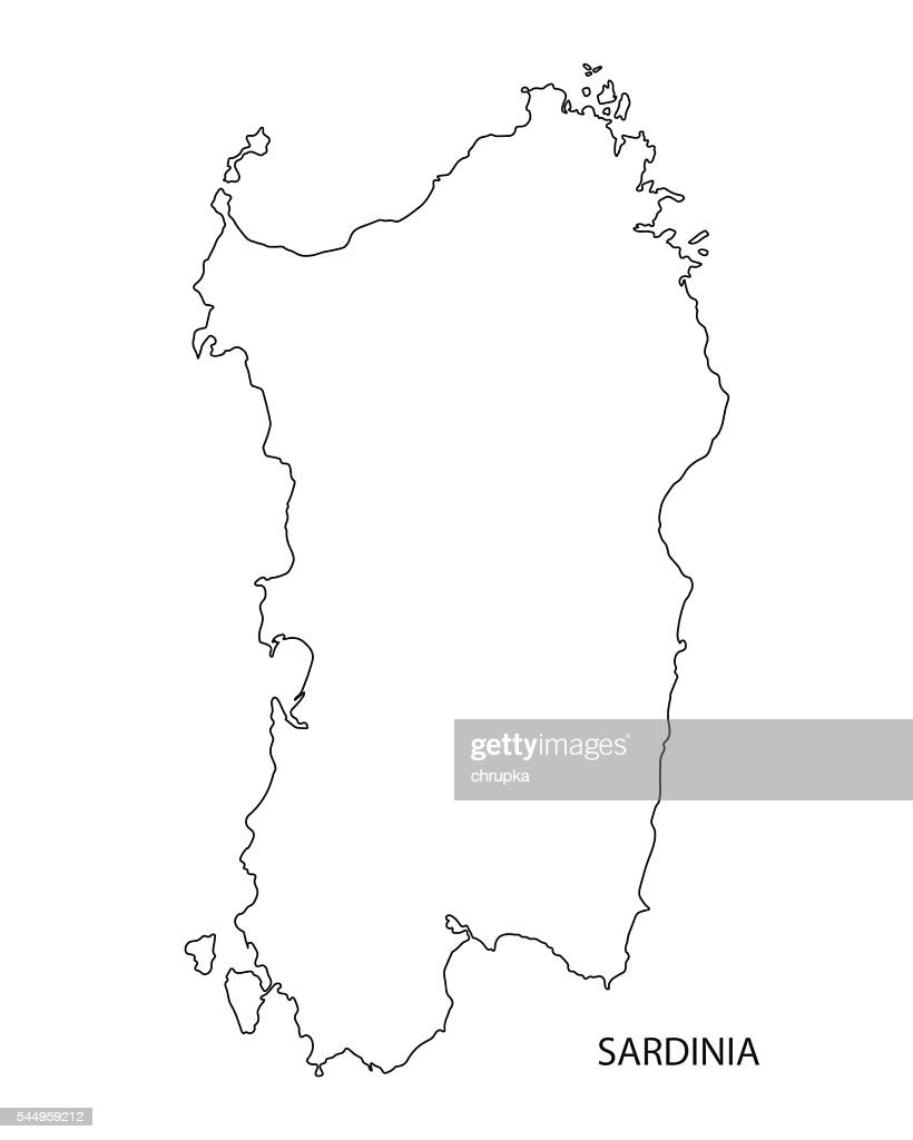 Map Of Italy Outline.Black Outline Of Sardinia Map Italy Vector Art Getty Images