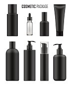 Black packages for luxury cosmetic