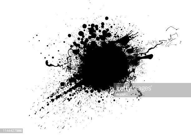 schwarzer farbsplitten - schwarz farbe stock-grafiken, -clipart, -cartoons und -symbole