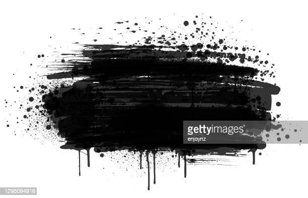 schwarzer farbspritzer - schlamm stock-grafiken, -clipart, -cartoons und -symbole