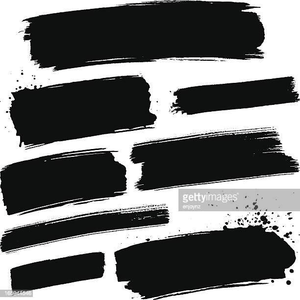 black paint strokes - pets stock illustrations