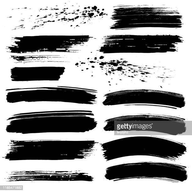 schwarze farbtexturen - streetart stock-grafiken, -clipart, -cartoons und -symbole