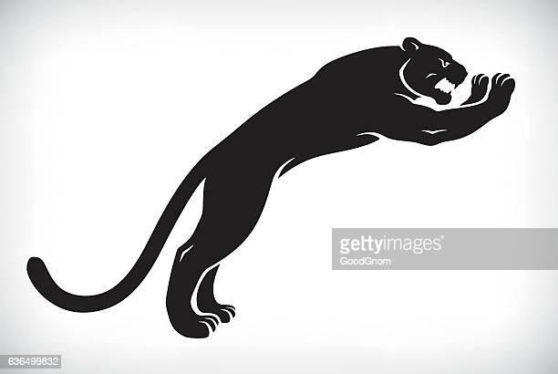 ilustraciones, imágenes clip art, dibujos animados e iconos de stock de black panther - jaguar