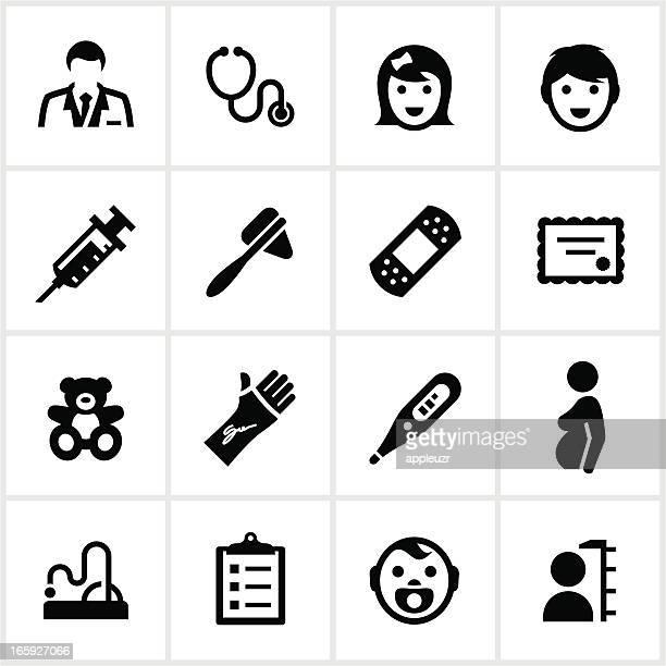 Black Pediatrician Icons
