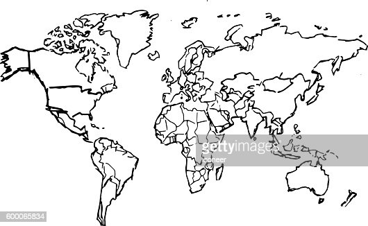 Black pencil drawing sketched world map on white background vector black pencil drawing sketched world map on white background vector art getty images gumiabroncs Choice Image
