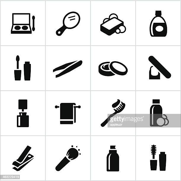black personal care icons - mouthwash stock illustrations, clip art, cartoons, & icons