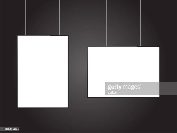 Black photo frame on the wall