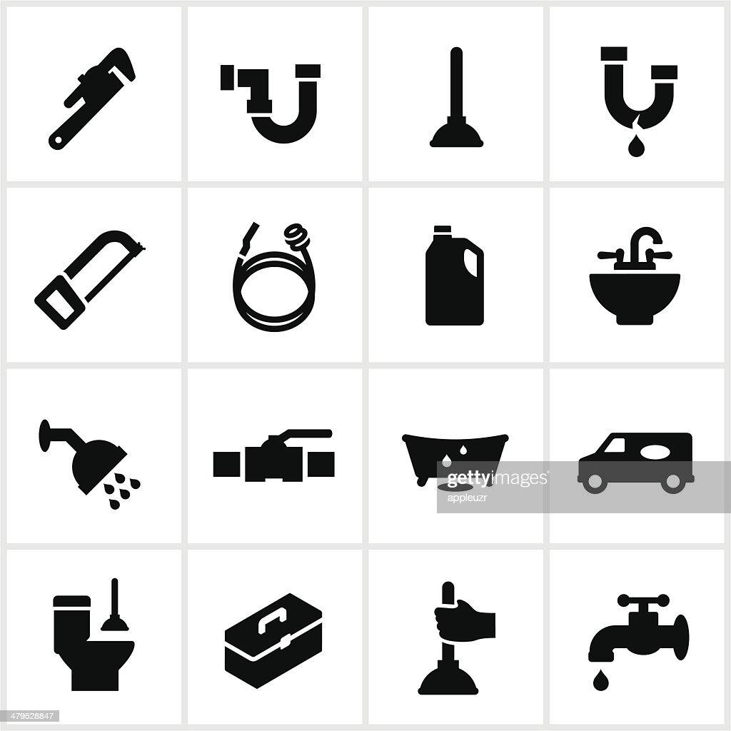 Black Plumbing Icons