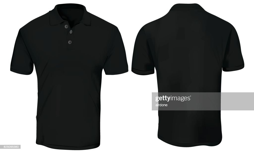 Black Polo Shirt Template