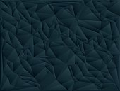 Black polygon abstract triangulated background, vector illustration