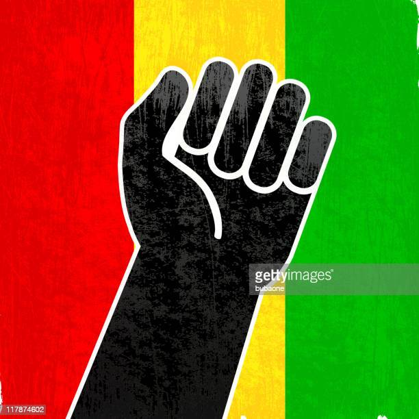 black power on royalty free vector background - black power stock illustrations