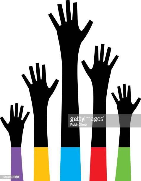 Black Raised Hands