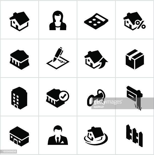 Black Real Estate Icons